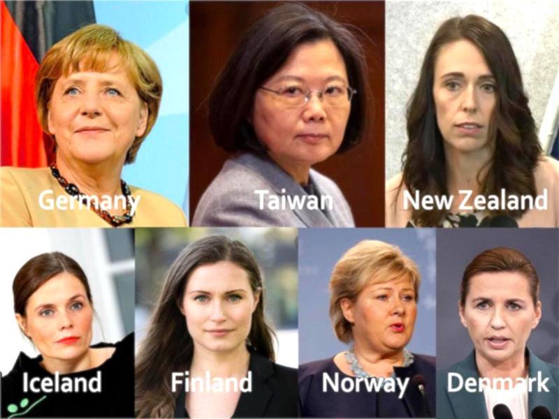 ▲德國、台灣、紐西蘭、冰島、芬蘭、挪威、丹麥的領導人皆為女性。(圖/翻攝自 Forbes )