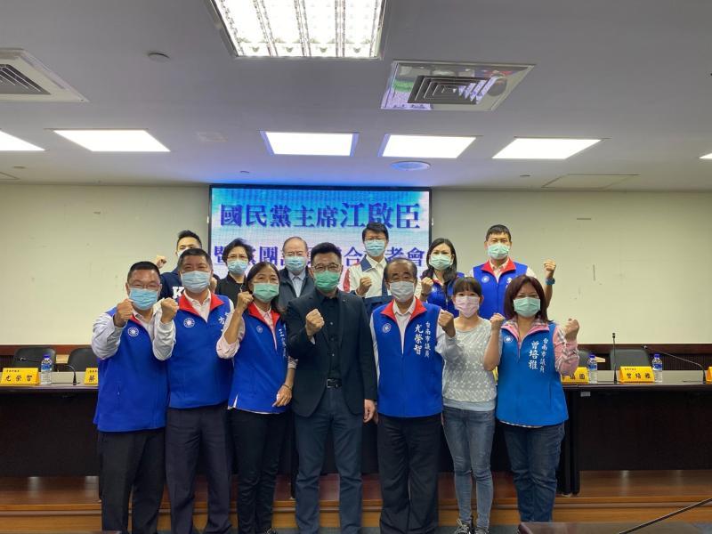 國民黨黨主席江啟臣今(14)日拜訪台南市議會國民黨團