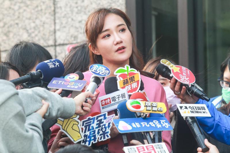 ▲何妤玫宣布結束8年婚姻後,首度出面向媒體說明近況。(圖/記者葉政勳攝 , 2020.04.14)
