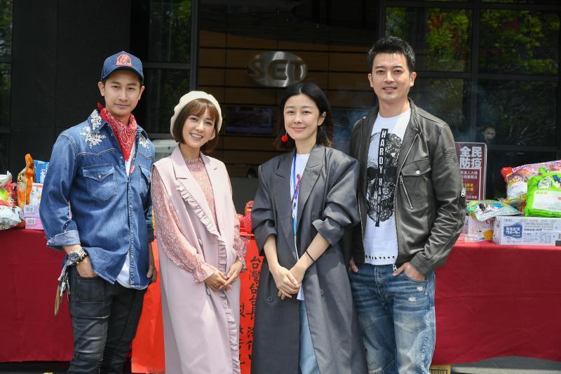 <br> ▲演員邱凱偉(左起)、大元、李維維、田家達。(圖 / 三立提供)