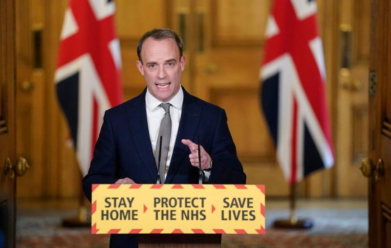 英國外交部證實 外長<b>拉布</b>接觸過確診者、自我隔離當中