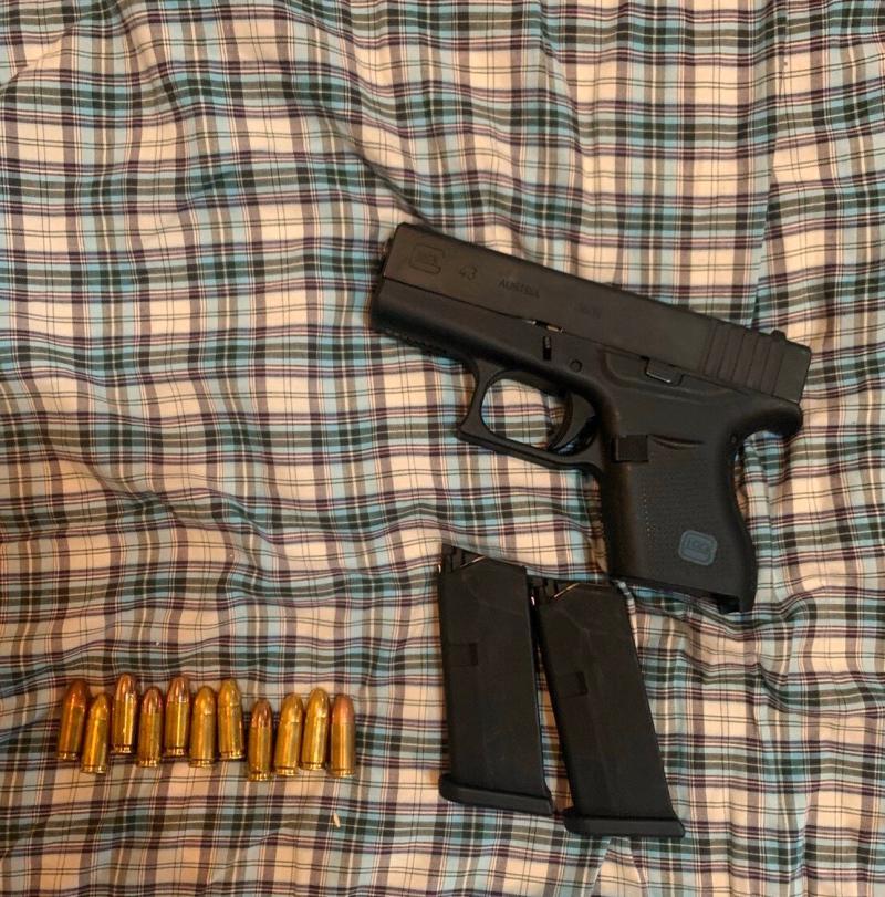 <br> ▲黃嫌犯案用的槍枝。(圖/記者陳聖璋翻攝)