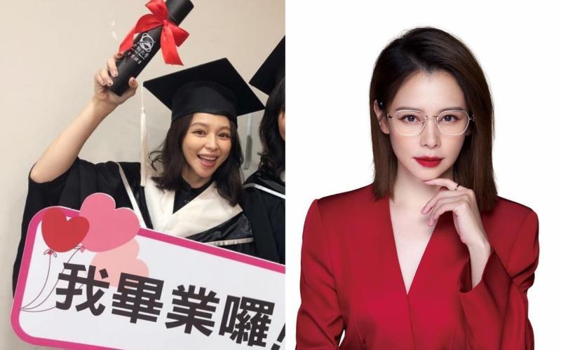 ▲徐若瑄去年從世新大學碩士在職專班畢業。(圖/徐若瑄臉書)
