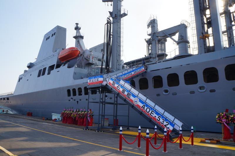 <br> ▲海軍磐石艦爆發24例確診新冠肺炎。(資料照/記者呂炯昌攝)