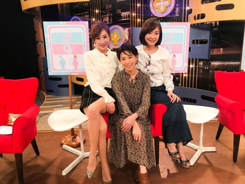 衛視中文台《一袋女王》左起羅巧倫、周宜霈、郭昱晴(橫)