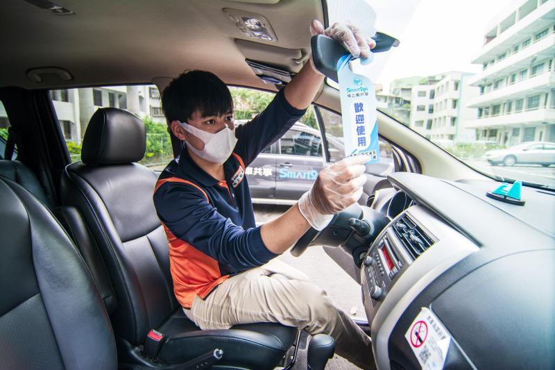 ▲每趟還車後,Smart2go都會消毒完成才重新上架。(圖/格上租車提供)