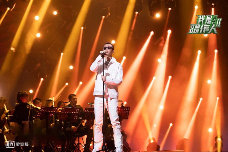<br> ▲《我是唱作人2》嘻哈歌手GAI首輪舞台勝張藝興。(圖/愛奇藝台灣站)