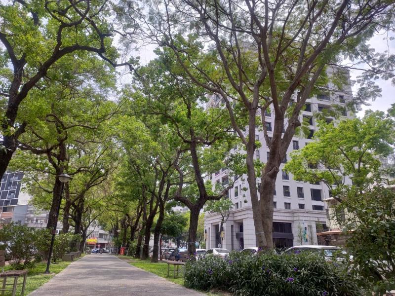NOWNEWS0421_台中市西區「茄苳公園」一帶綠意盎然,生活環境舒適。