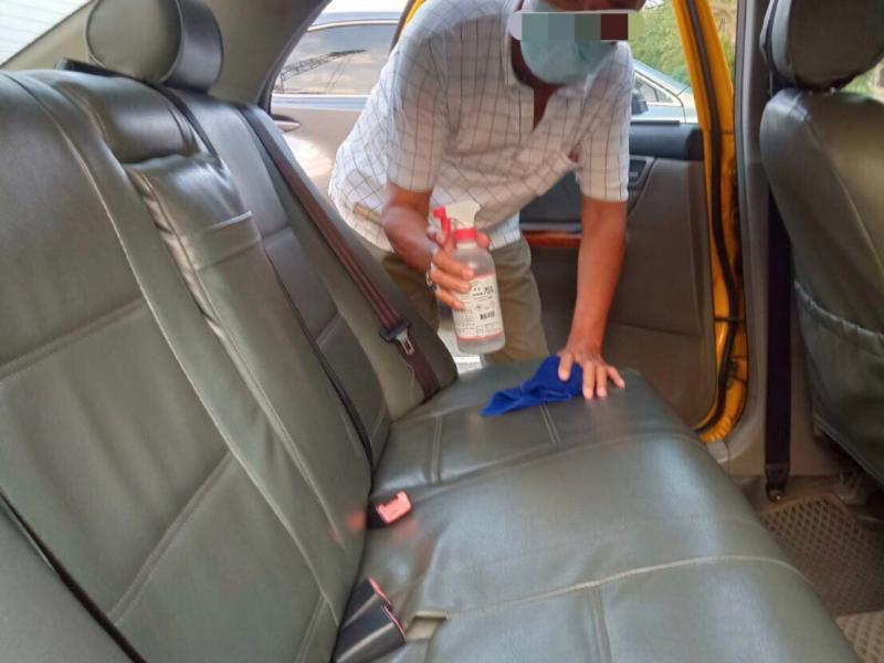 <br> ▲衛生局已追查到載過確診者的2位計程車司機。(圖/台南市衛生局)