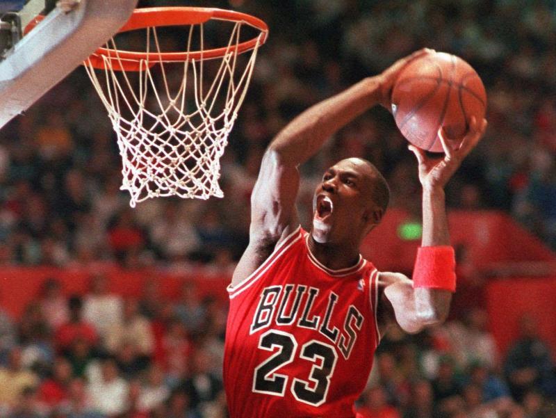 公牛隊傳奇Michael Jordan。(圖/美聯社/達志影像)