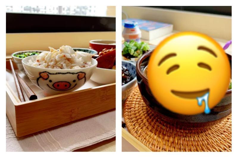 ▲留學生秀媽媽「愛的檢疫餐」,料理曝光 1 萬人讚。(圖/翻攝自《 Dcard 》)