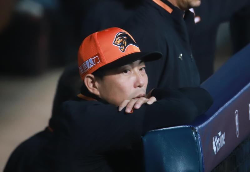 ▲統一7-eleven獅總教練林岳平。(圖/記者葉政勳攝 , 2020.04.21)