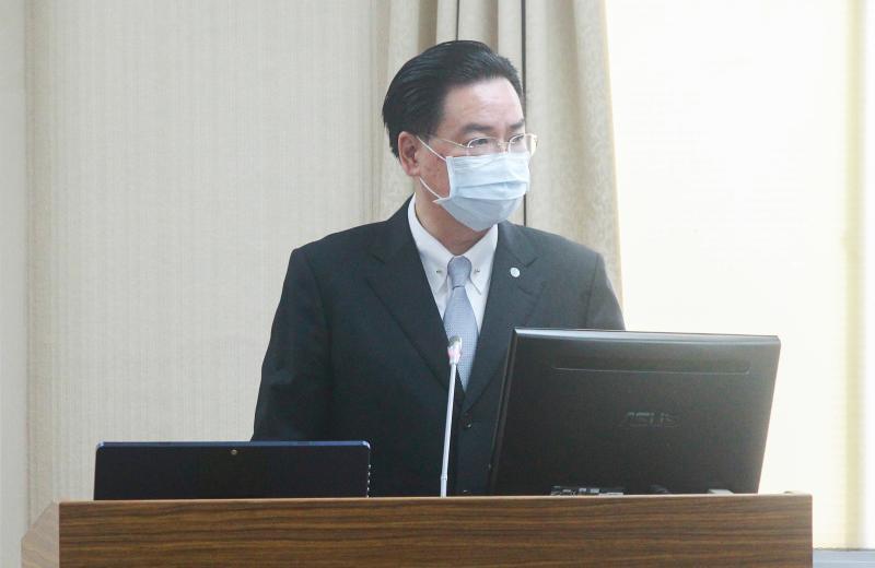 ▲外交部長吳釗燮。(圖/記者葉政勳攝 , 2020.04.23)