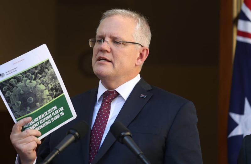 ▲澳洲總理莫里森(Scott Morrison)表示,中國外交部發言人趙立堅在推特放上澳軍持刀架在阿富汗兒童脖子上的假圖片,澳洲已要求北京當局道歉。資料照。(圖/翻攝自英國《衛報》)