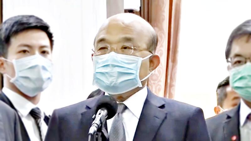 行政院長蘇貞昌。( 圖 / NOWnews 影音中心)