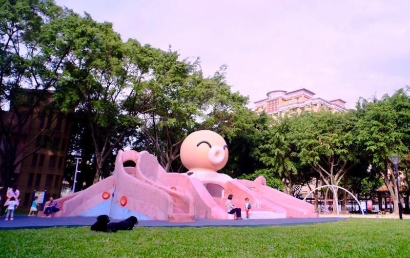 NOWNEWS0427_板橋溪北公園因設施吸睛,深受年輕家庭喜愛。