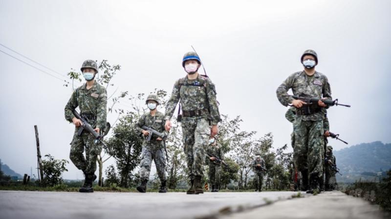 陸軍第六軍團206旅落實訓練,注重防疫作為,此為示意圖。(圖 / 國防部提供)