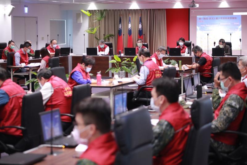 台中防疫兵推 盧秀燕:超前部署市民安心
