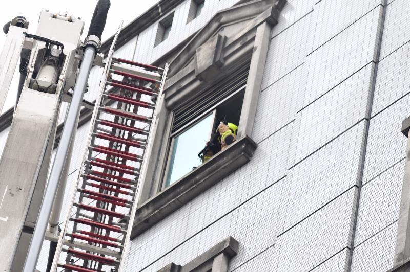 ▲林森北路錢櫃KTV在24日上午發生大火。(圖/記者林柏年攝.2020.04.26)