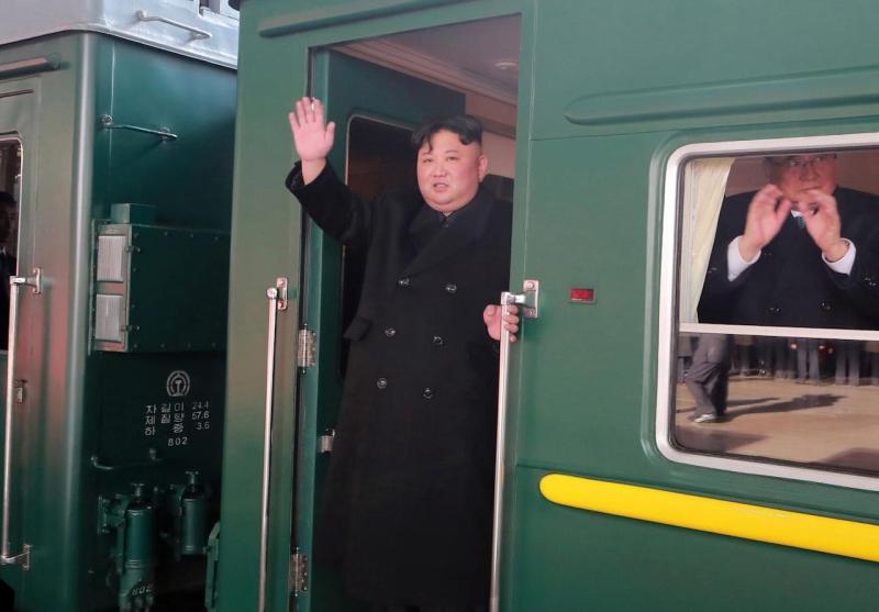 ▲金正恩2019年搭乘火車前往俄羅斯。(圖/翻攝自 qz.com )
