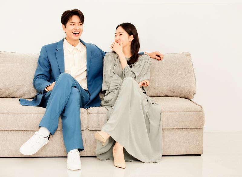<br> ▲李敏鎬(左)金高銀接受台灣媒體訪問。(圖/Netflix)