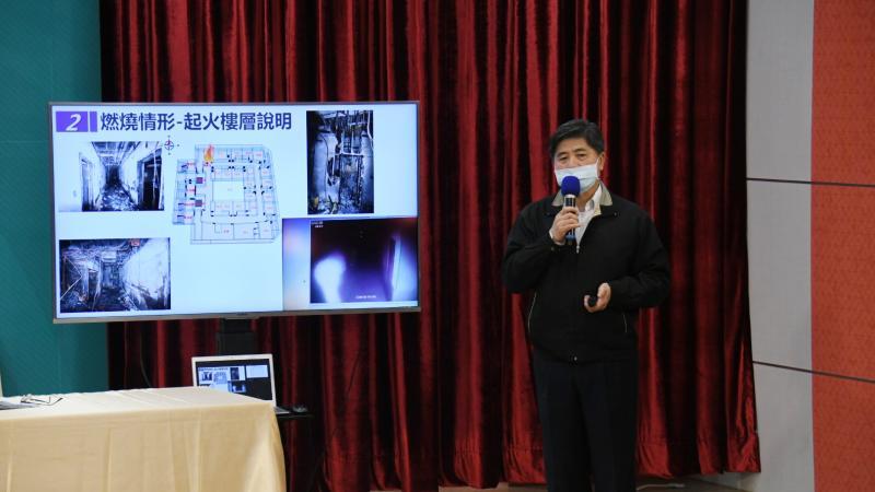 台北市消防局長吳俊鴻。
