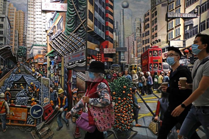 ▲中國全國人大會議將審議「香港版國安法」,引發關注。外界擔憂此舉將破壞「一國兩制」原則,侵害香港的人權自由法治。(示意圖/美聯社/達志影像)