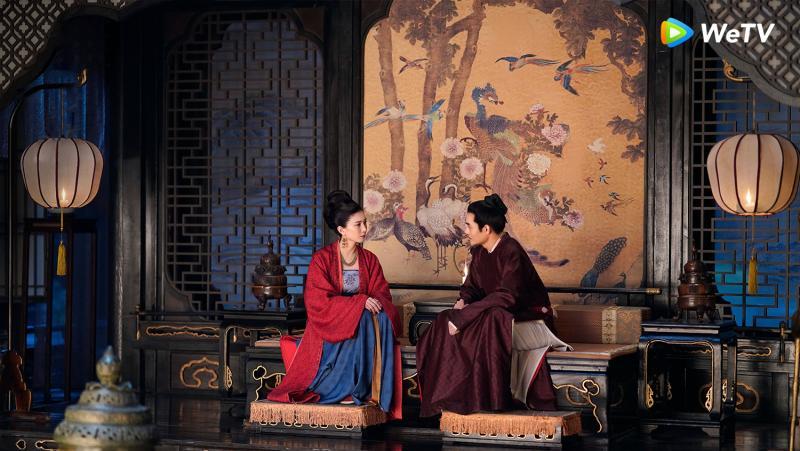 <br> ▲江疏影(左)與王凱在《清平樂》相敬如賓。(圖 / WeTV提供)