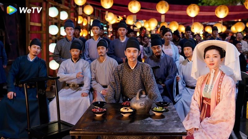 <br> ▲王凱(中)與江疏影(右)主演《清平樂》。(圖 / WeTV提供)