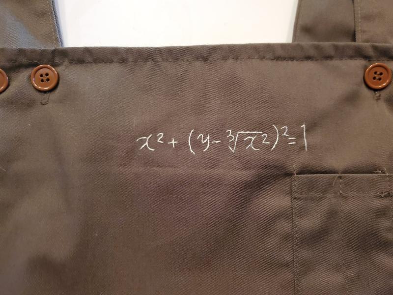妻贈圍裙附神秘數學公式 解題「驚喜」閃瞎眾人:超浪漫