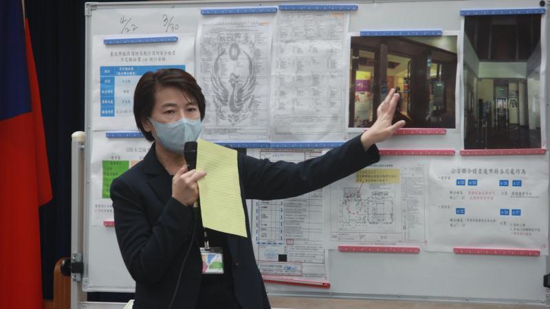 台北市副市長黃珊珊強調,三月四月稽查時,都未發現業者有施工的情況。