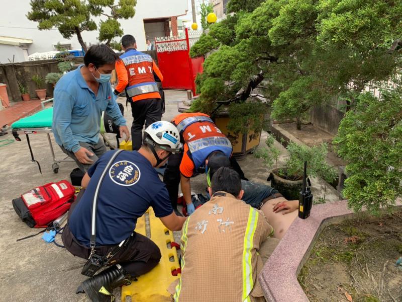 台南新化工安意外 工人高處墜落1死1傷