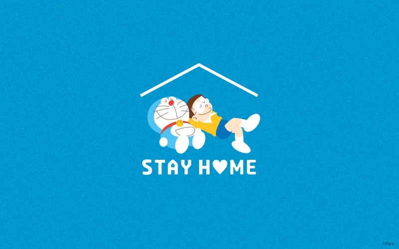 <br> ▲哆啦A夢官方呼籲民眾STAY HOME。(圖/官網)