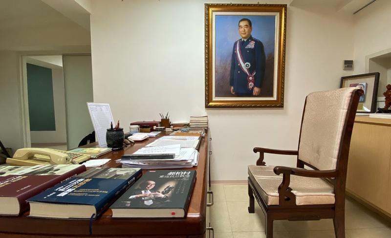 郝柏村書房開放媒體拍攝(1)