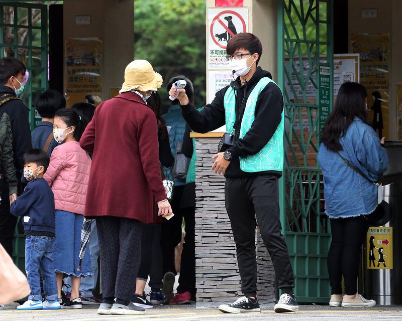 台北市立動物園防疫把關 為入園民眾量體溫
