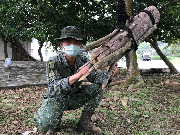 ▲ 陸軍特戰指揮部野外求生社培養官兵興趣。(陸軍特戰指揮部提供)