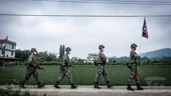 ▲ 陸軍206旅落實訓練,注重防疫作為。(陸軍第六軍團提供)