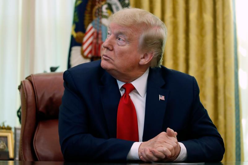 ▲美國總統川普本月 1 日於白宮。(圖/美聯社/達志影像)