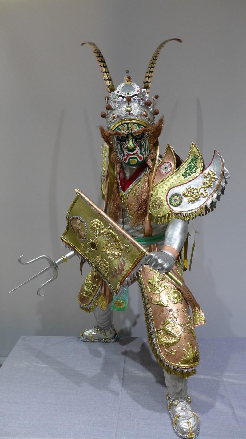 <br> ▲錫工藝保存者陳志昇-官將首「損將軍」。(圖/彰化縣文化局提供 記者陳雅芳翻攝,2020.05.02)
