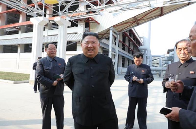 ▲韓媒稱金正恩在2013年至2018年間足足胖了40公斤(圖/翻攝《勞動新聞》)