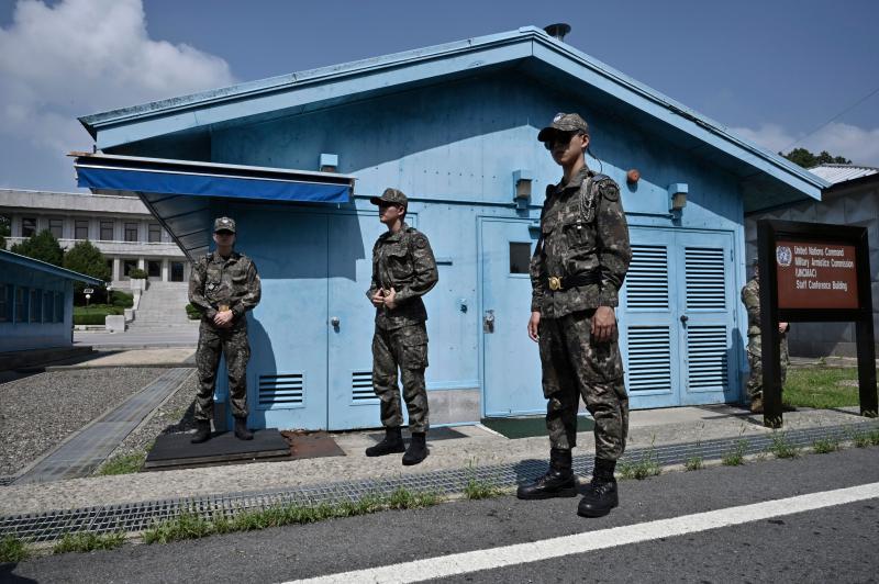 ▲據韓國軍方指稱,3日早上北韓軍向非軍事區南韓哨站開火。圖為兩韓非軍事區DMZ。(資料照/美聯社/達志影像)