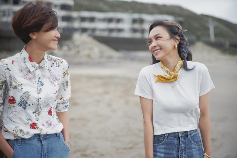 ▲林采欣(右)歌曲〈鯨落〉MV邀林意箴(左)、夏騰宏演出。(圖/華納音樂提供)