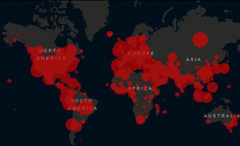全球破365萬確診!美國佔據120萬例 中國跌出前10名