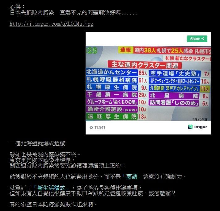 ▲新冠肺炎持續延燒,日本專家提議「新生活方式」,對此,有網友在