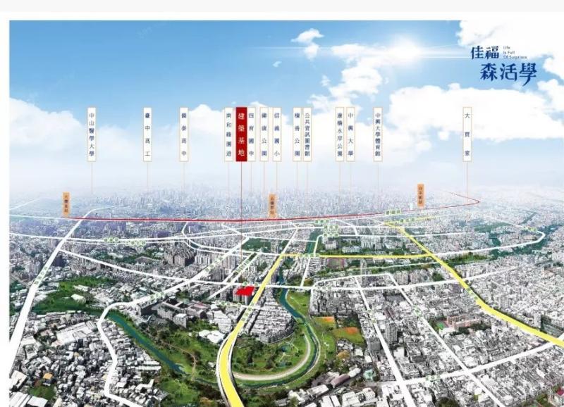 ▲建案同時坐擁商圈、園道、水岸及學區等完整生活機能。(圖/公關照片)