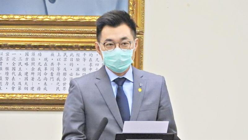 國民黨主席江啟臣。(圖/記者陳弘志攝)