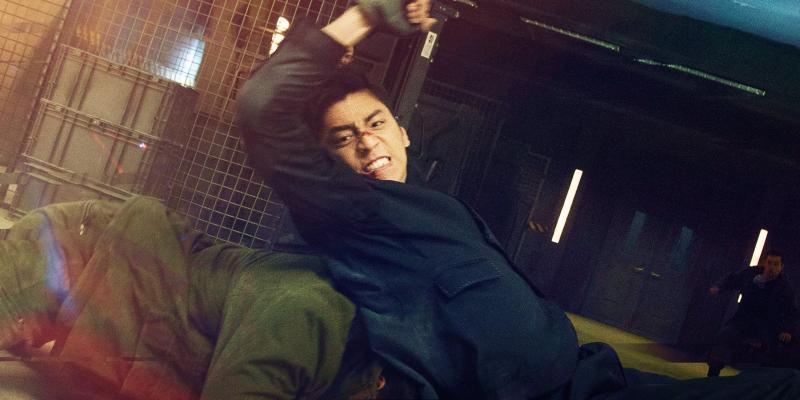 ▲王大陸挑戰《死侍》風格動作。(圖/華映娛樂)