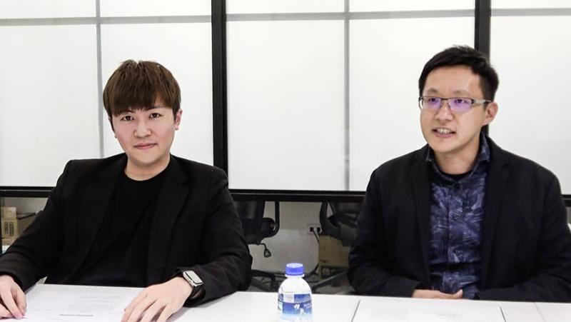 ▲浪LIVE營運長武傳翔(左)、技術總監王教昌。(記者陳明安攝)