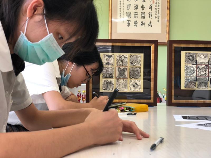 學生初體驗手繪禪繞畫