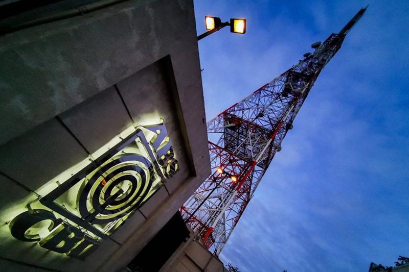 ▲ABS-CBN電視台大樓。(圖/美聯社/達志影像)